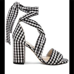 RAYE Black & White gingham print heel